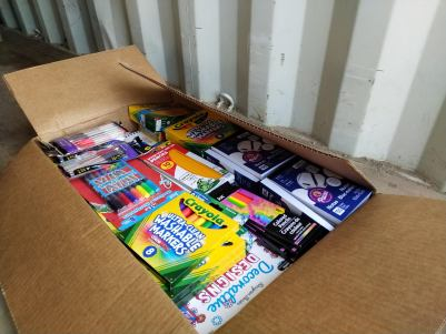 School supplies ready to be packed (Courtesy photo)