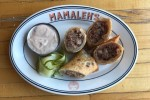 Reuben egg rolls and hoisin Russian dressing (Photo: Mamaleh's)