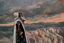 """""""Moses Sees the Promised Land from Afar,"""" as in Numbers 27:12, by James Tissot"""