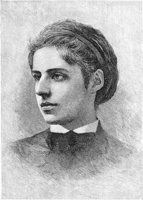 Engraving of Emma Lazarus