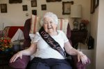Harriet and Ralph Kaplan Estates resident Stasi Dunau celebrates her 100th birthday (Courtesy photo)