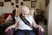 Harriet and Ralph Kaplan Estates resident Stasi Dunau celebrates her 100th birthday (Courtesy photo)