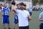 Julian Edelman at Kraft Stadium in Jerusalem in 2015 (Photo: Dan Seligson)