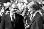 Mohammad Reza Pahlavi and US President Jimmy Carter (Public Domain Image)