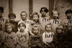 Some of the 176 Jewish children rescued by South African Jewish philanthropist Isaac Ochberg from the pogroms that followed the Russian Revolution (Courtesy photo)