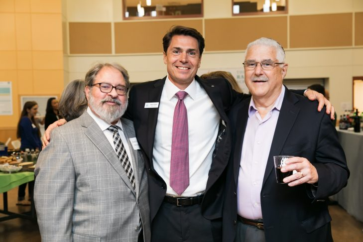 "From left: Rabbi Richard ""Rim"" Meirowitz, Adam Fischer and Rabbi Henry Zoob (Courtesy photo)"