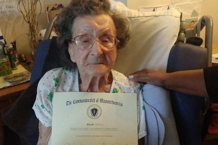 Ruth on her 100th birthday (Courtesy photo)