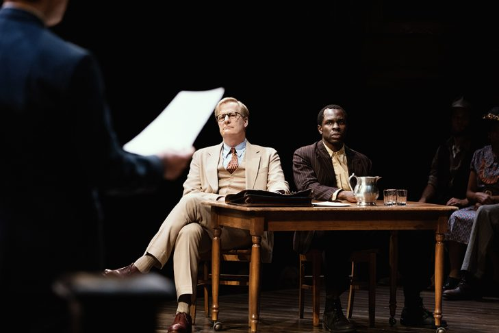 "Jeff Daniels and Gbenga Akinnagbe in ""To Kill a Mockingbird"" (Photo: Julieta Cervantes)"