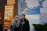 Norman Greenbaum with mural artist Jesse Melanson (Photo: Susie Davidson)