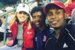 Alison Noyce and her sons at a Red Sox game (Courtesy photo)