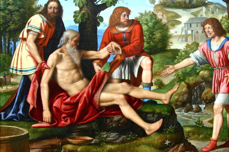 """""""Ham Mocking Noah,"""" Bernardino Luini, 16th century"""