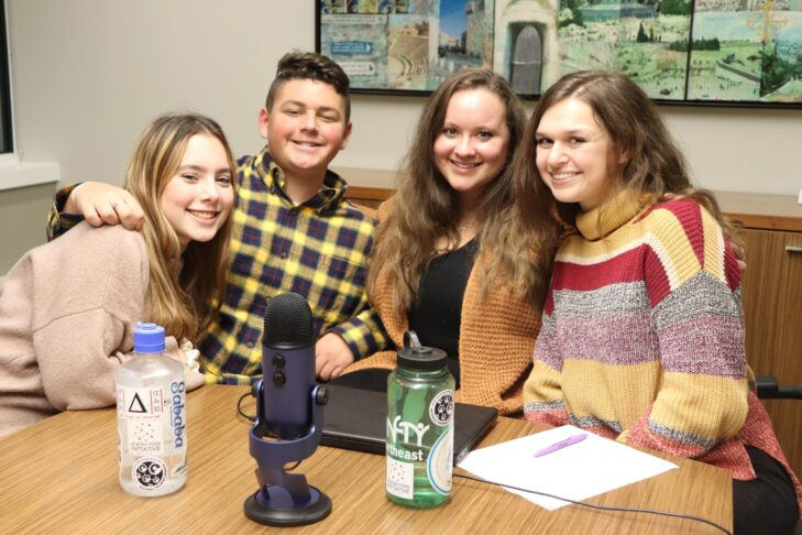 From left: Ryann Bloom, Josh May, Ariella Honig and Rachel Kesser (Photo: Jewish Teen Initiative)