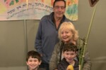 Beth Moskowitz with her grandsons (Courtesy photo)
