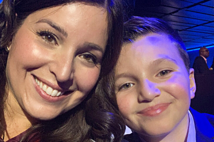 Mimi and Jacob Lemay at CNN's LGBTQ Town Hall on Oct. 10, 2019 (Courtesy Mimi Lemay)