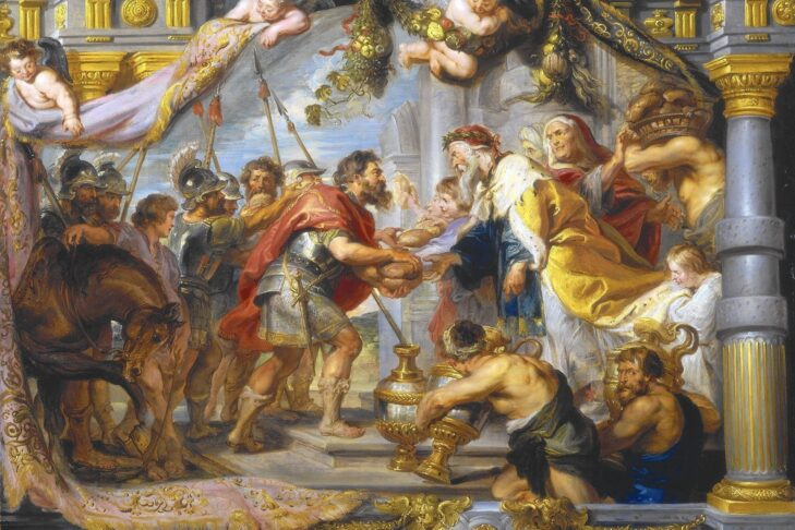 """""""The Meeting Between Abraham and Melchizedek,"""" painting circa 1625 by Peter Paul Rubens (Credit: National Gallery of Art)"""