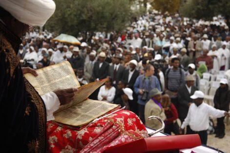 A Sigid celebration in Jerusalem (Courtesy Bezawit Abebe and Be'chol Lashon)