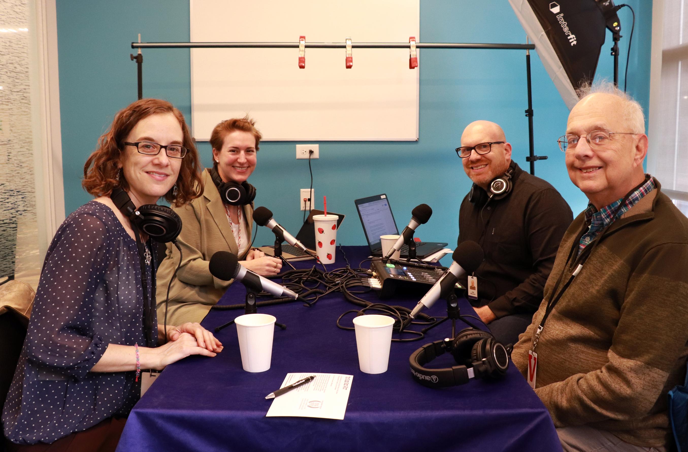 From left: Filmmaker Amy Geller, Kali Foxman, Dan Seligson and filmmaker Gerald Peary (Photo: Ashley Jacobs)