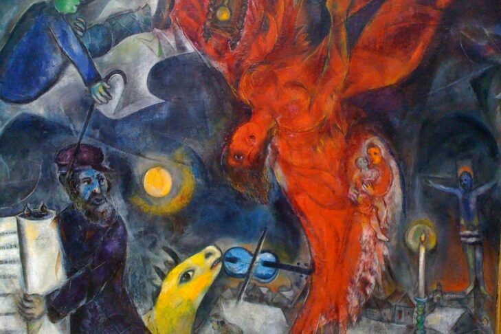 """The Falling Angel"" by Marc Chagall"