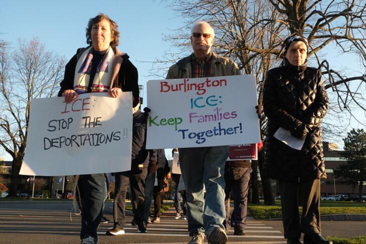 Rabbi Susan Abramson, far left, at a Jericho Walk (Courtesy photo)