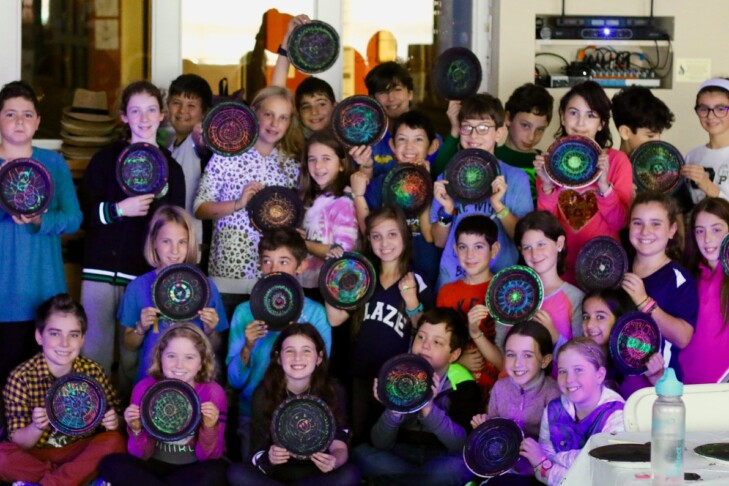 Artwork from students at JCDS, Boston's Jewish Community Day School (Photo: Ilana Coolidge)