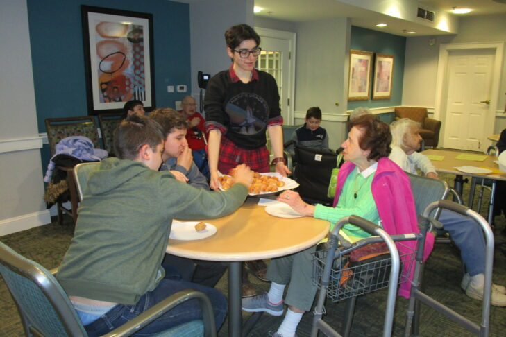 Students and seniors in the Better Together program at Kaplan Estates in Peabody (Courtesy photo)