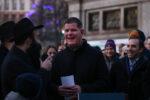 BOSTON MA. - DECEMBER 22: Rabbi Yosef Zaklos  introduces Mayor Marty Walsh at the 36th Annual Menorah lighting in the Boston Common on December 22, 2019 in Boston, MA. (Staff Photo By Nancy Lane/MediaNews Group/Boston Herald)