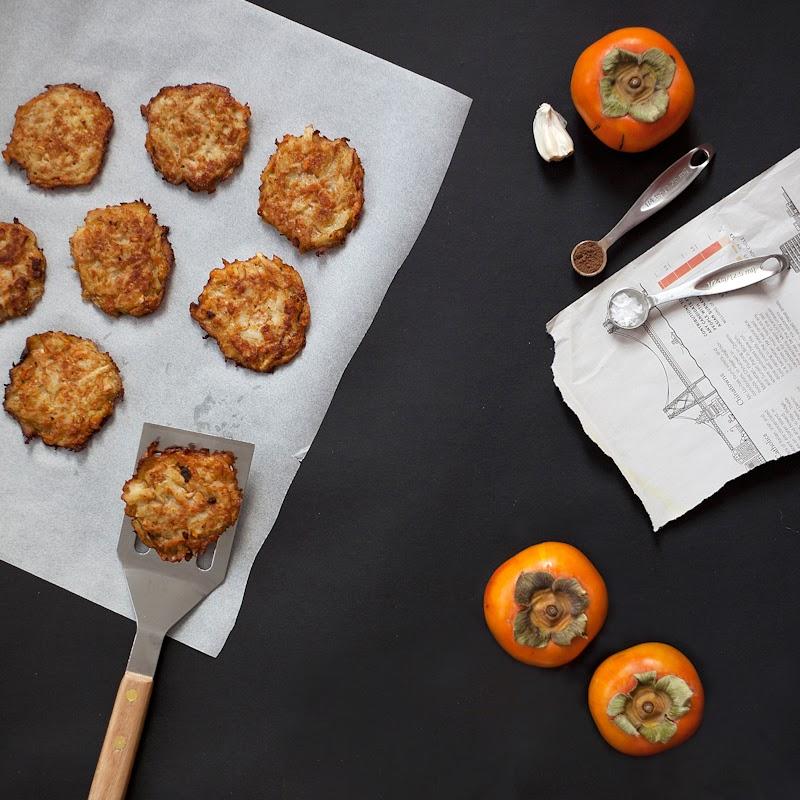 persimmon latkes pancakes