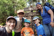 Cantor Ken Richmond and his family on a hike (Courtesy photo)