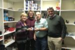 Ronna and Scott Cohen with JFS staff Diana O'Brien and Lino Covarrubias (Courtesy photo)