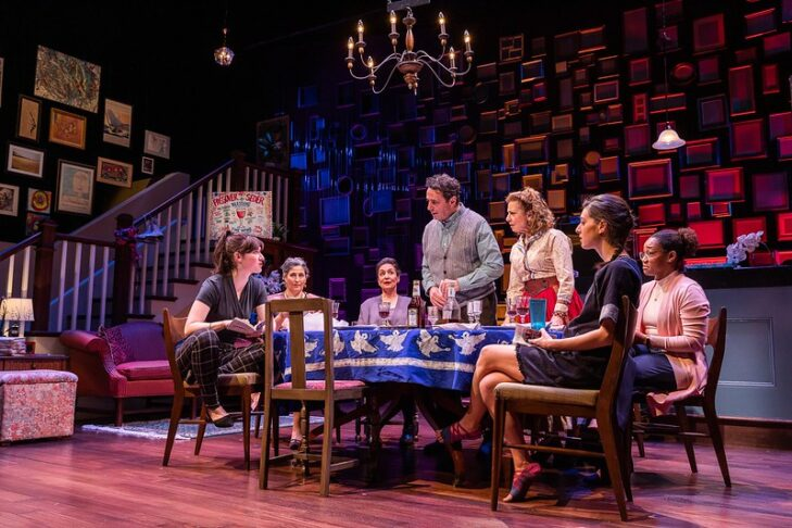 """The cast of the Huntington Theatre Company's production of """"We All Fall Down"""" (Photo: Nile Hawver)"""