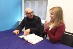 Miriam Anzovin and Dan Seligson learn Daf Yomi (Photo: David Manchester)