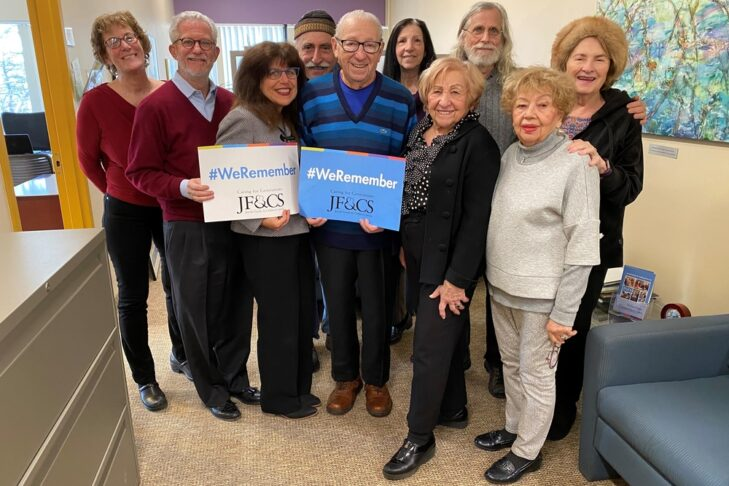 """JF&CS Schechter Holocaust Services Advisory Council participates in the """"We Remember"""" campaign (Courtesy photo)"""
