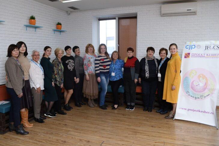 Lauren & Mark Rubin Visiting Moms with the Mentor Moms in Dnipro, Ukraine (Courtesy photo)