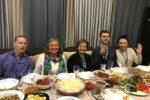 Lauren & Mark Rubnin Visiting Moms at a dinner in Dnipro, Ukraine