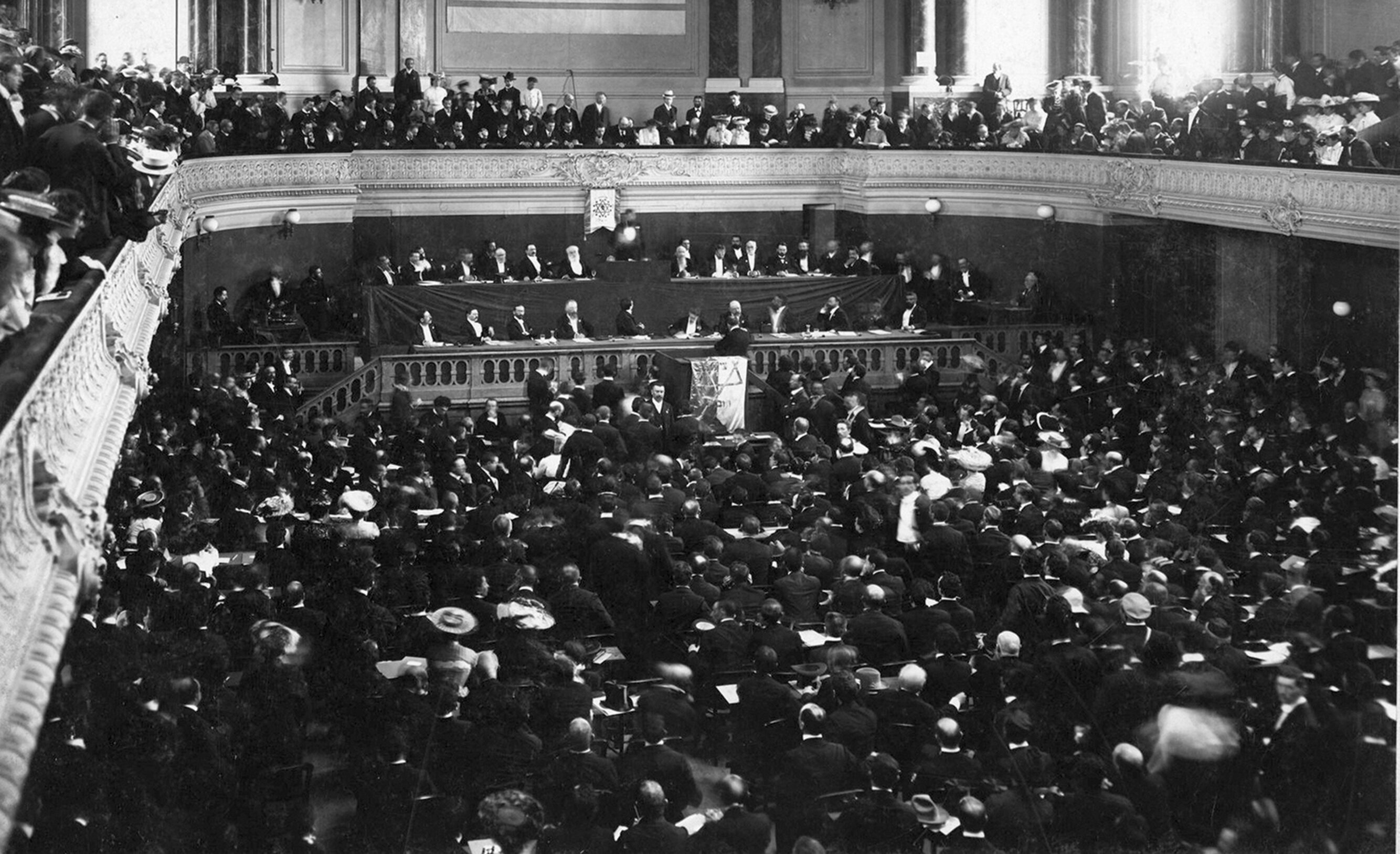 The first U.S. World Zionist Congress election in 1897 (Courtesy American Zionist Movement)