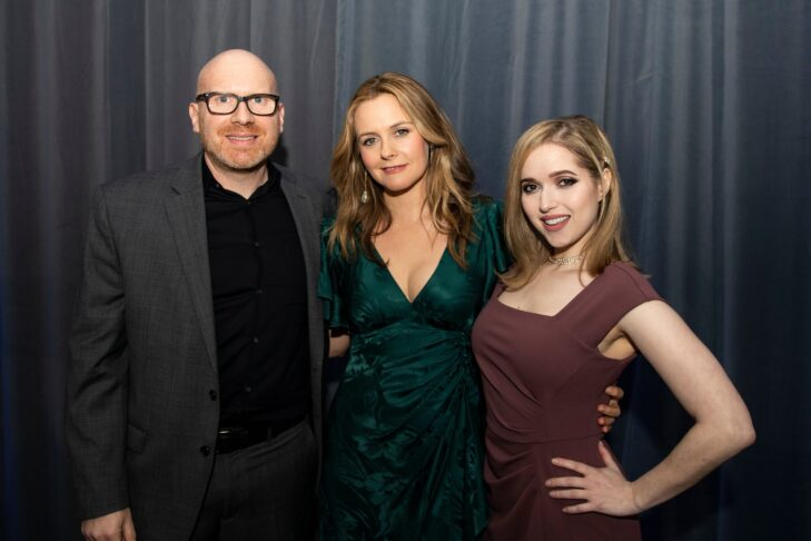From left: Dan Seligson, Alicia Silverstone and Miriam Anzovin (Photo by Billie Weiss/CJP)