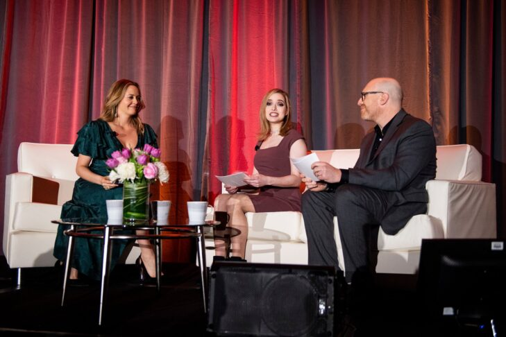 From left: Alicia Silverstone, Miriam Anzovin and Dan Seligson (Photo by Billie Weiss/CJP)