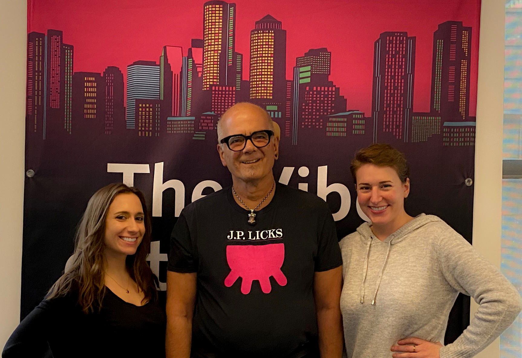 From left: Ashley Jacobs, J.P. Licks owner Vincent Petryk and Kali Foxman (Photo: Miriam Anzovin)