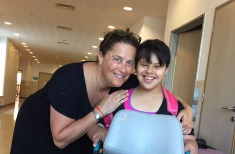 Rhonda and an ALEH Negev resident (Courtesy photo)