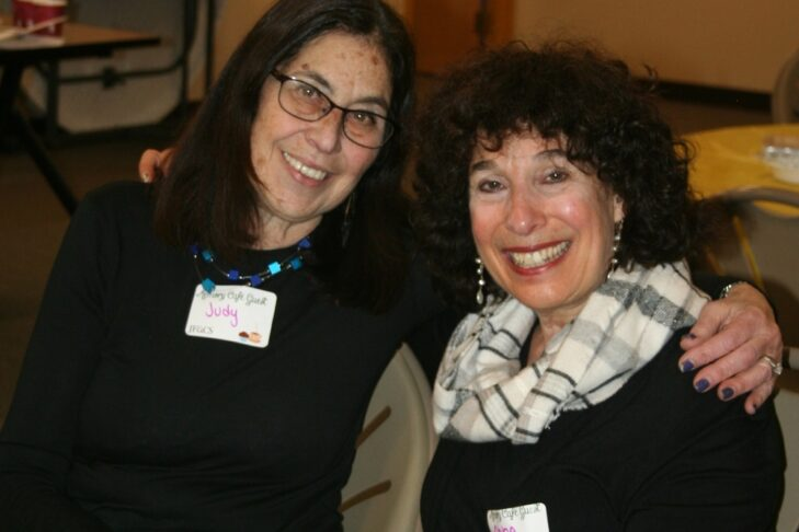 Judy and Abbe at the Memory Café at JF&CS (Courtesy photo)