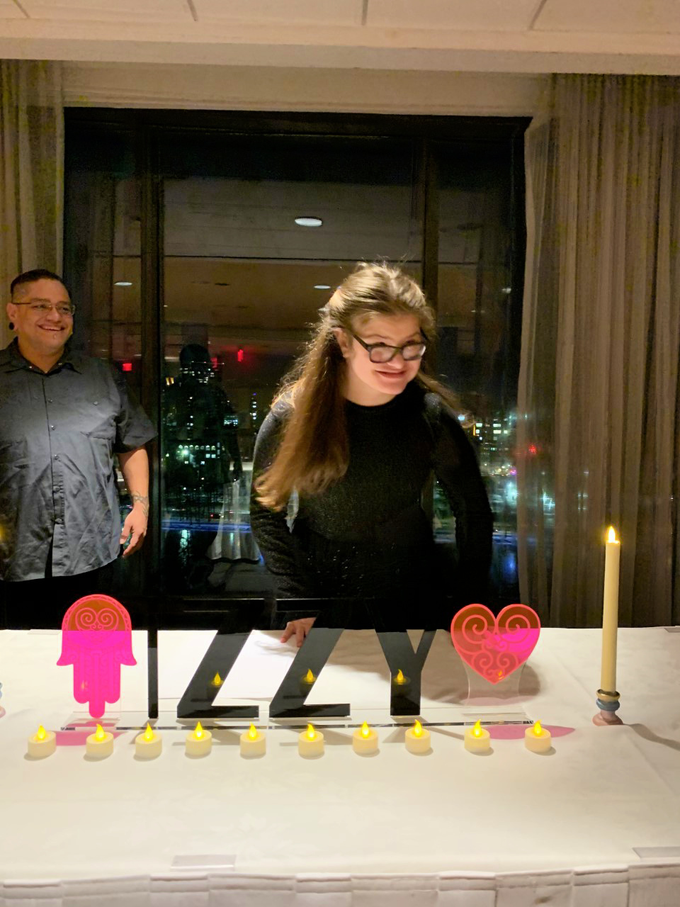 Izzy at her candle lighting ceremony (Courtesy photo)