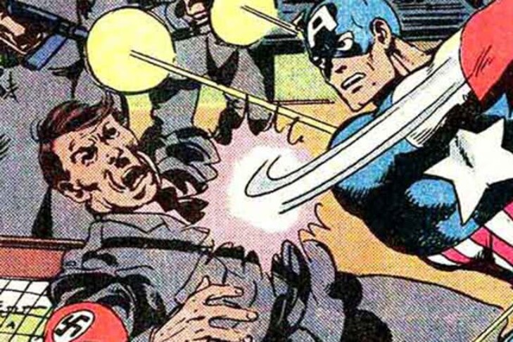 "(Illustration: ""Captain America"" Issue No. 255)"