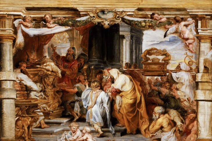 """""""Sacrifice of the Old Covenant"""" by Peter Paul Rubens"""