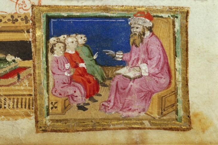 """Rabban Gamaliel I"" (Illustrated manuscript: The British Library)"