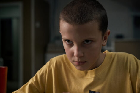 "Millie Bobby Brown as Eleven in ""Stranger Things"" (Courtesy photo: Netflix)"