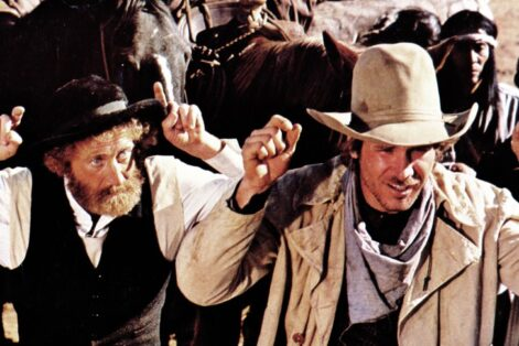 """Gene Wilder and Harrison Ford in """"The Frisco Kid"""" (Courtesy image)"""