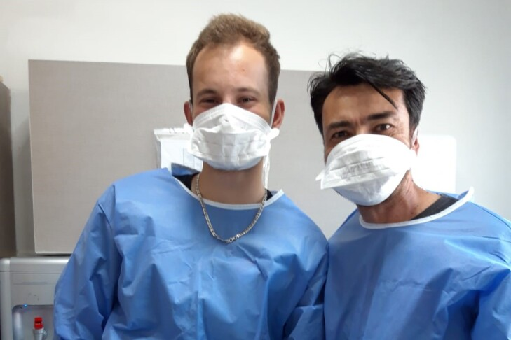 Staff and volunteers at ALEH Negev now wear scrubs and face masks (Courtesy photo)