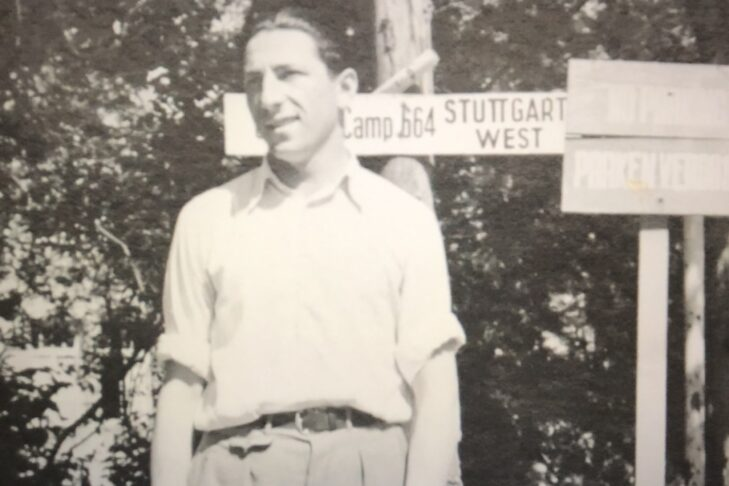 Izzy Arbeiter in Stuttgart, Germany, after liberation (Courtesy photo)