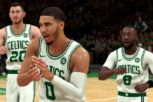 The Boston Celtics as featured in NBA 2K20 (Promotional image)