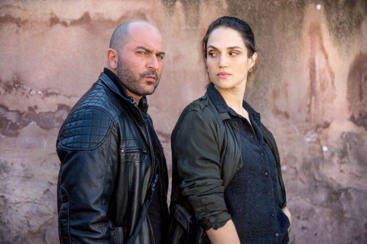 "Lior Raz and Marina Maximilian Blumin in ""Fauda"" Season 3 (Promotional still: Netflix)"